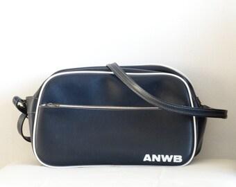 Vintage Dutch ANWB Bag, Retro Bag, Messenger Bag