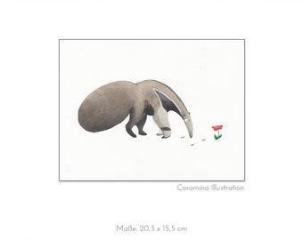 Original illustration  ant-eater