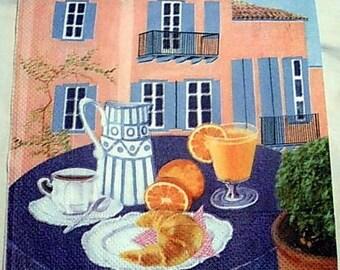 Paper towel orange on the terrace