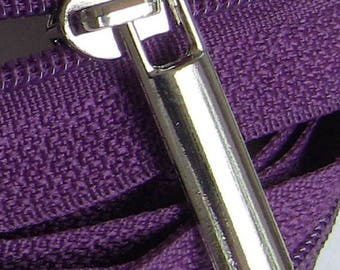 100 sliders massive silver or gold zipper zipper by meter number 5 mesh 6mm
