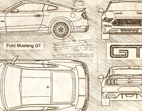 Ford mustang gt 2018 da vinci sketch mustang artwork ford mustang gt 2018 da vinci sketch mustang artwork blueprint patent prints posters mustang decor art car art cars 267 malvernweather Image collections