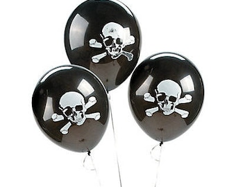 Pirate balloons  /  Party balloons / pirate theme/ pirate