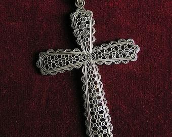 Marcasite cross