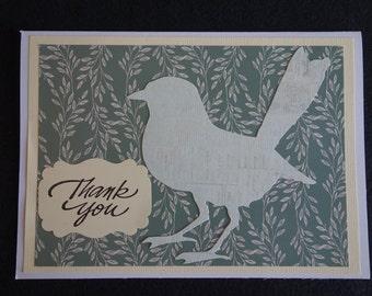 Bird Thank You card