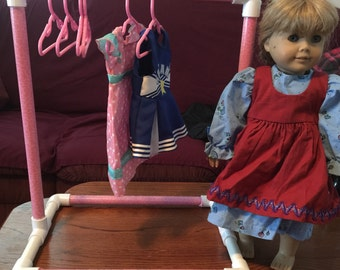 Doll Clothes Rack with Hangers for American Girl