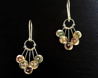 Alexandria - Solid 18K Yellow Gold and Tourmaline Earring Drops