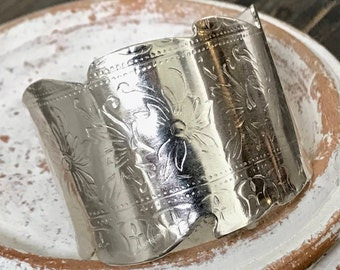 Solid Bold Sterling Silver Cuff