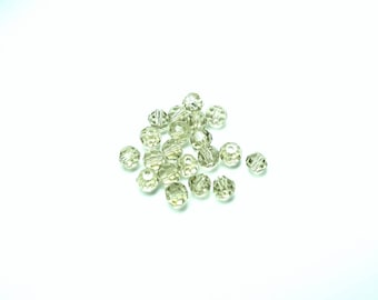 20 BROWN ICE CRYSTAL ROUND BEADS HAVE FACETED 6 MM