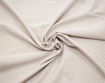 Yarn-dyed cotton stripes fabric - sand - 50 cm
