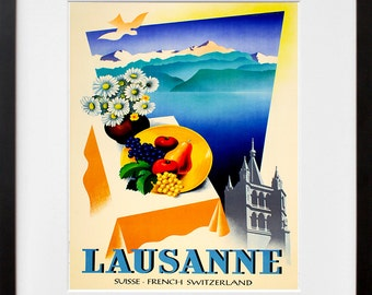 Swiss Travel Poster Switzerland Wall Art Print (ZT318)
