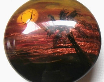 Custom made One of a Kind Furniture and Cabinet Knobs-Palmtree Sun