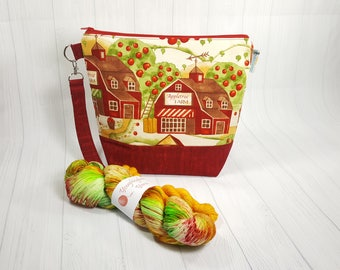 Appletree Farm Harvest Kit - Knitting Project Bag and Yarn Collaboration with Youghiogheny Yarns - KT005