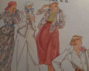 Vintage 1970's Butterick 4169 Shirt, Skirt and Pants Sewing Pattern Size 12 Bust 34