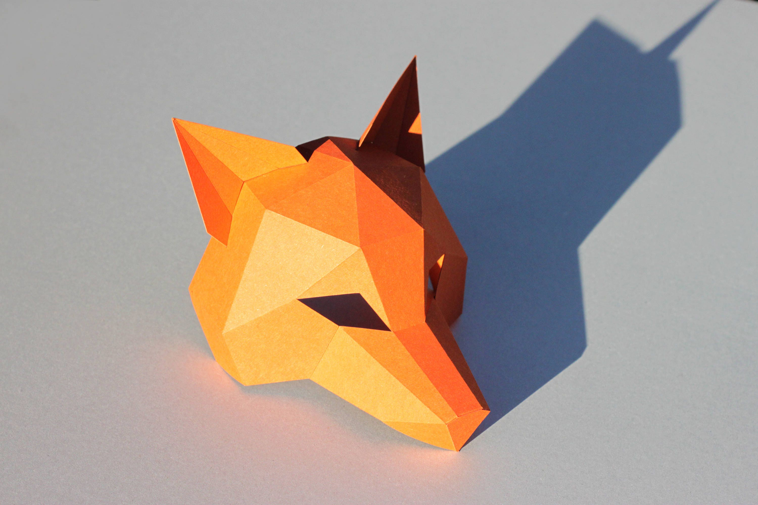 New year fox mask pdf instantdownload half head mask zoom jeuxipadfo Image collections