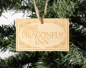 Gilmore Girls Dragonfly Inn Christmas Ornament // Party Favor // Celebrate your love of everything from Stars Hollow