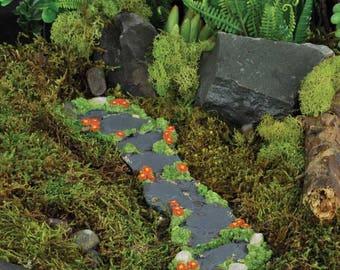 Miniature Dollhouse FAIRY GARDEN ~ Flower Fairy Flower Path ~ NEW