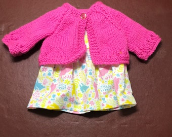 Preemie hand made peter rabbit dress and knitted jacket