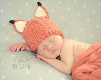 Fox Baby Hat • Fox Newborn Hat • Woodland Newborn Hat • Woodland Baby Hat • Autumn Baby Hat • Baby Fox Hat • Fox Toddler Hat