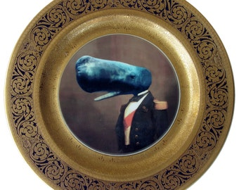 Sire Cachalot Portrait - Altered Antique Plate 11""