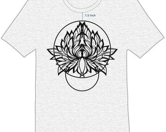 Lotus Flower in Circle - Mockup for T-shirt