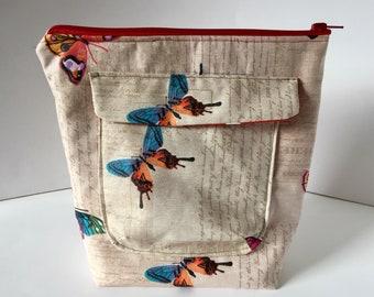 Kulturbeutel Kulturtasche Schmetterlinge Necessaire für Kosmetik
