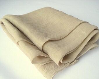 Beige scarf, pastel beige, rustic scarf, light pale brown scarf, long scarf, light fabric scarf, light scarf, pastel color, pastel brown