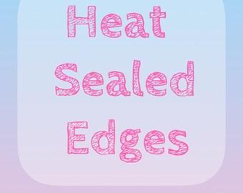 50 Heat Sealed Edges / .10 per label