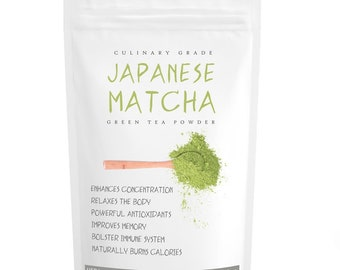 Japanese Culinary Matcha (16oz) -USDA Organic, Pure Matcha Green Tea Powder, Boosts metabolism naturally- FREE 1-3 Day USA Shipping