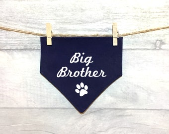Big Brother Sister Dog Bandana, Going to be a Big Brother/Sister Sibling, Baby Announcement News, Petkerchief