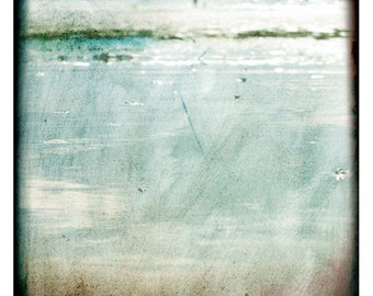 Vagues normandes 1  (Abstract Photography - Fine Art Print - Sea-  Water - Minimal Wall Art - Painting - Light Blue)