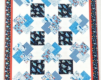 Sharktown Quilt Kit Playing Cards Pattern Playing Cards Pattern by Main Street Market Designs fabric Sharktown by Shawn Wallace