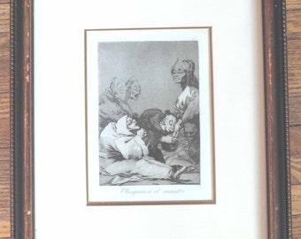 Aqua tint; antique art; Francisco de Goya (A Gift for the Master)
