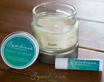 GIFT set, candle, ointment, balm has lip to choose