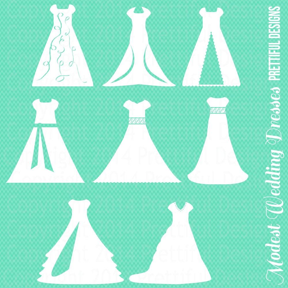 Modest Wedding Dress Clipart Temple LDS Mormon Clip Art png eps svg ...