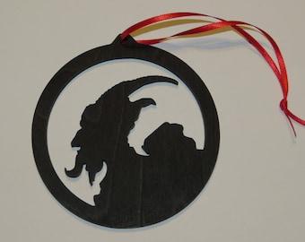 KRAMPUS wood Ornament - Laser cut Ornament