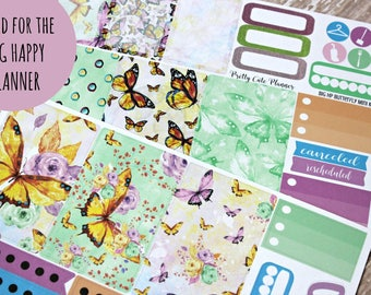 BIG Happy Planner Stickers - Happy Planner - Butterfly Mini Kit - Weekly Planner Sticker Set - Functional Sticker Set - ECLP - Day Designer