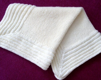 SALE! PEARL baby blanket knitting pattern