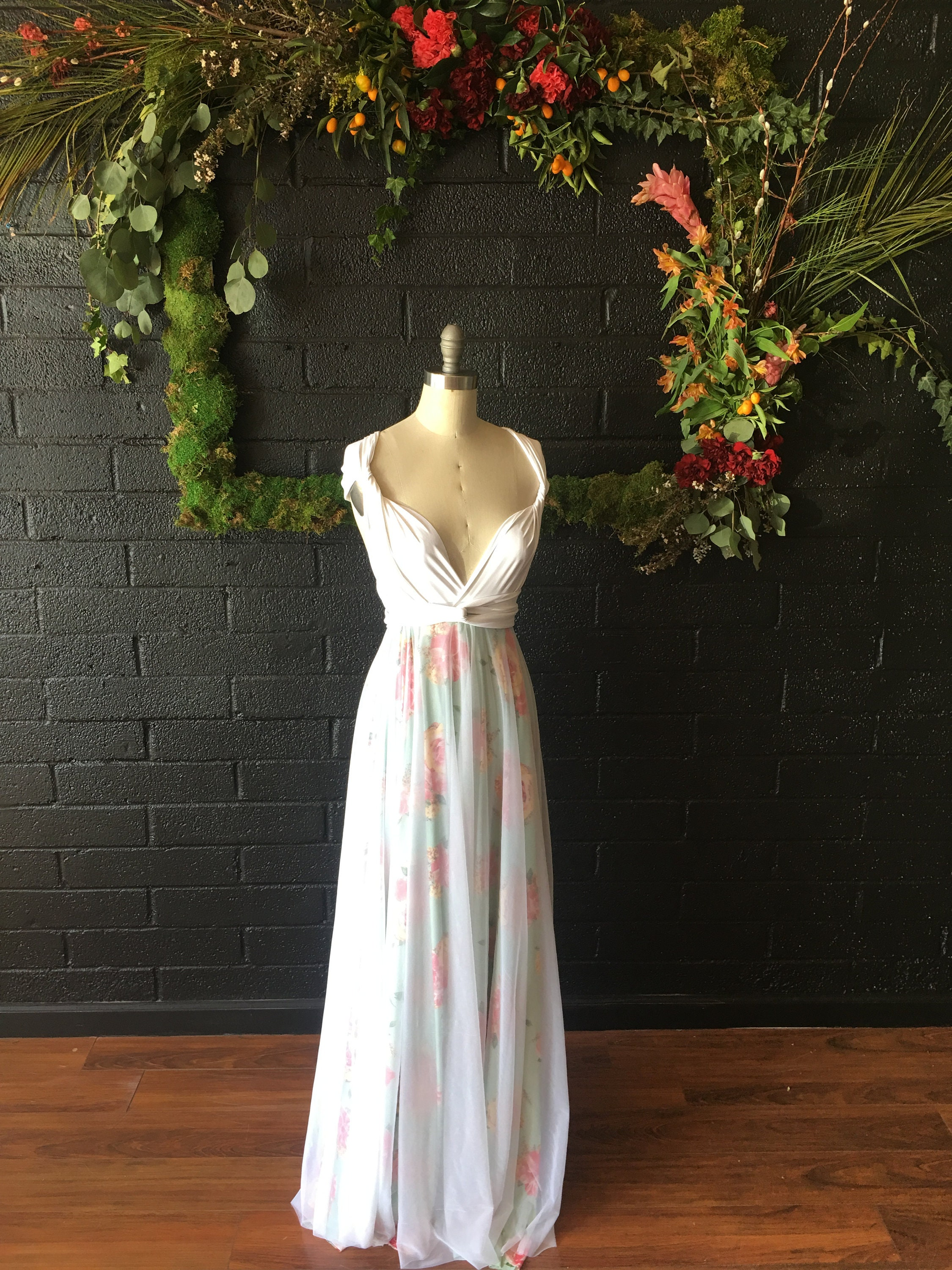 Mint rose garden tulle full circle infinity convertible wrap dress mint rose garden tulle full circle infinity convertible wrap dress custom choose fabrics for bridal bridesmaids prom maternity ombrellifo Gallery