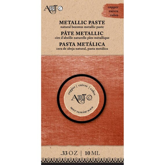 Wax Paste COPPER Metallic 20ml  Art-C ,beeswax based Metal gloss, professional quality and highly pigmented wax paste