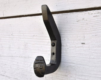 Double Hook, Railroad Spike Hook, Black Hooks, Rustic Wall Hooks, Country Home Decor, Coat Hooks, Wall Coat Rack, Wall Hooks, Railroad Decor