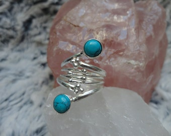 turquoise ring, size 53