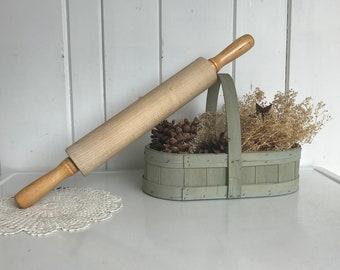 """Rolling Pin JK Adams Vermont Maple Wood 21"""" Long w 12"""" Long Barrel"""