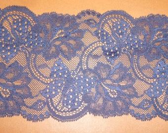 Navy Blue stretch lace