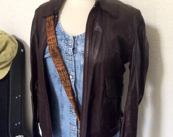Vintage Dark OxBlood Brown Leather Reversible (Suede) Motorcycle Jacket - Dark Brown Cafe Racer Jacket