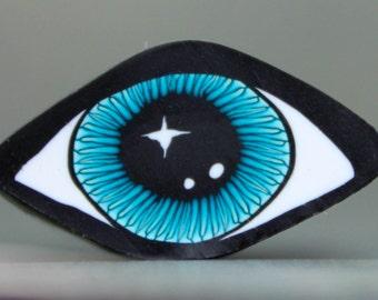 Polymer Clay Eye Cane -'Mystical Meadow' (39bb)
