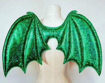 Bat Wings. Black Dragon. Cosplay. Vampire Halloween. up4aRT