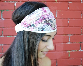 Turban Headband, Lace Headband, White Headband, Wide Headband, Bohemian Headband, Yoga Headband, Wide Bandana, Summer Headband, Boho Turban