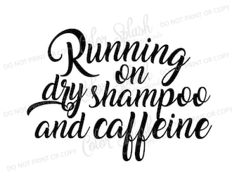 dry shampoo and caffeine svg, cutting file, silhouette cameo, cuttable, clipart, dxf,