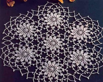 round lace crochet doily christmas placemat table decor centerpiece white cotton doilies wedding decoration unique birthday gift for mom