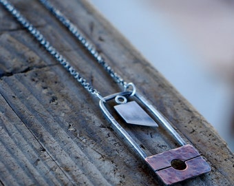 The Executioner. Guillotine Necklace. Reign of Terror. Mixed Metal Jewelry. Mini Weapon. Off with their heads. Blade. French Revolution